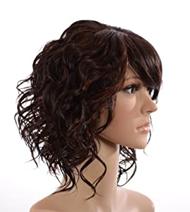 Hair By MissTresses Nutmeg Brown Loose Curl Wavy Inverted