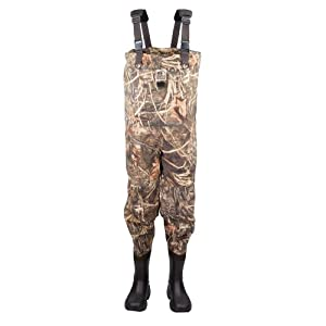 Hodgman Quivera Insulated Chest Wader (RealTree Max-4 Camo, 10) by Hodgman