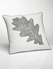 Conran Leaf Print Cushion