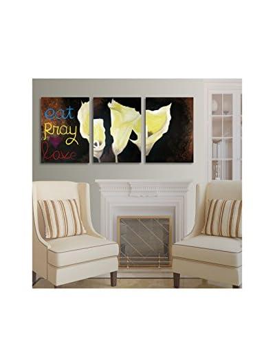 "Amanda Rea ""Eat Pray Love"" 3-Panel Art Set"