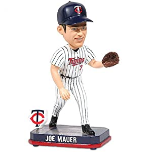 2014 Springy Logo Joe Mauer Minnesota Twins Bobble Head Doll by Forever Collectibles