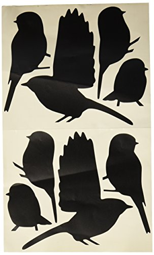 Molding Mates Chickadees 8 Molding Mates Home Decor Peel and Stick Vinyl Wall Decal Stickers (Black Cap Chickadee compare prices)