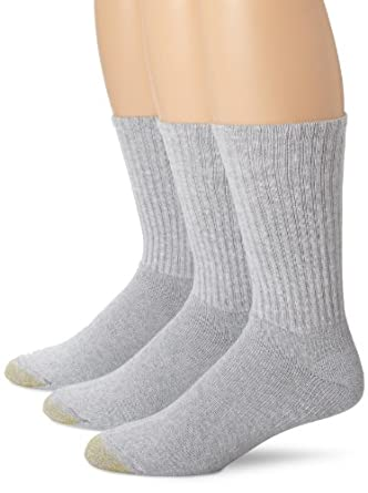 Gold Toe Mens Cotton Ultra Tec Crew Socks - 3 Pairs by Gold Toe