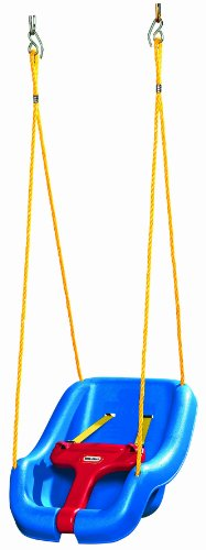 Little Tikes 2-en-1 Snug 'n de Swing Secure Blue