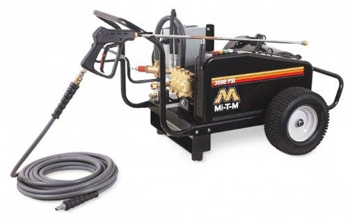 Mi-T-M Cw-3005-0Me3 Cw Premium Series Cold Water Electric Belt Drive, 10.0 Hp Motor, 230V, 26A, 3000 Psi Pressure Washer