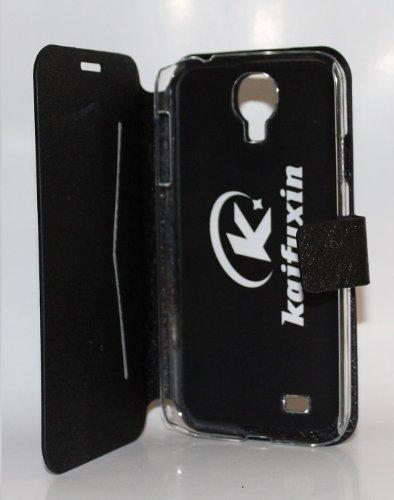 steve-tronik Samsung Galaxy S4 i9500 Tasche Flip Case Hülle Etui schwarz black super leicht Flip Case extra dünn verarbeitet Rundumschutz für Display Cover Bumper