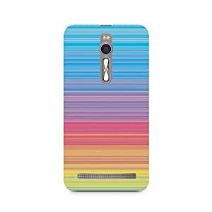 Ebby Color Linear Hues Premium Printed Case For Asus Zenfone 2