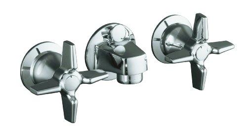 KOHLER K-8040-3A-CP Triton Shelf-Back Lavatory Faucet, Polished Chrome