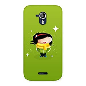 Impressive Laughing Cute Girl Print Back Case Cover for Micromax Canvas Magnus A117