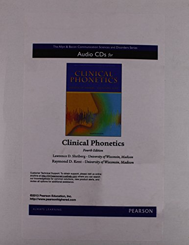 Clinical Phonetics with Audio CD (3rd Edition)