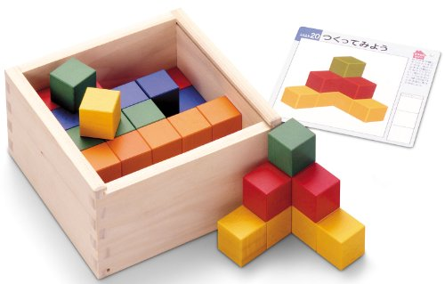 Graphic cube building block