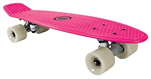 Bored Kids Neon - Skateboard infantil, tamaño 58 cm x 15 cm, color rosa neón