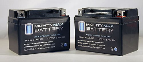 Ytx4L-Bs Replaces Motorcycle Honda Ct70 70Cc 91-'94 Battery - 2 Pack