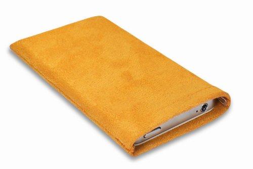 Janney [Lart]BAG Jelly gelb Hülle Handyhülle aus Microfaserstoff für dein Anycool iPRO i66pro