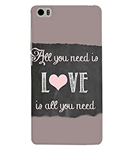 PRINTVISA Quotes Love Case Cover for Xiaomi Mi5