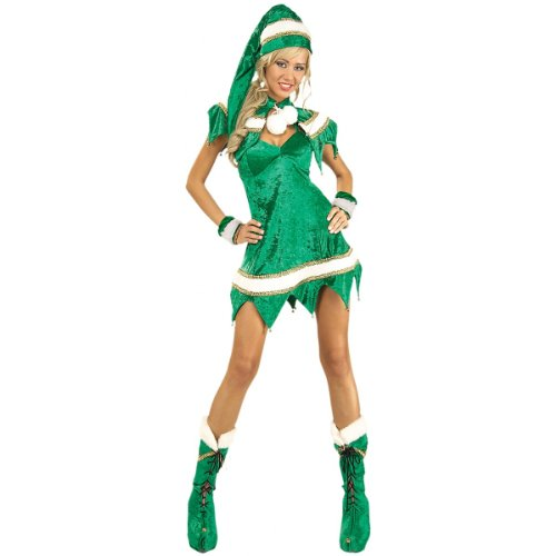 Santa's Elf Costume - Standard - Dress Size 10-12