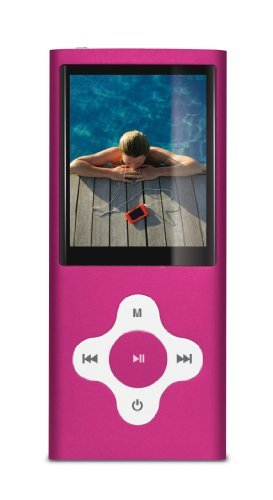 Sylvania SMPK4099 4 GB Video MP4 Player with FM Tuner, built in Camera/Camcorder and 2-Inch Screen - Pink