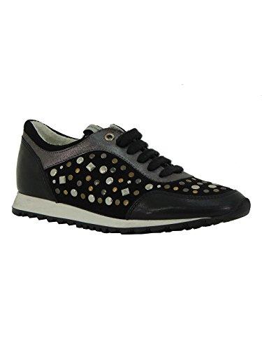 Scarpa donna Tosca Blu sneaker Herse in pelle stringata con borchie SS1511S204 nero 38