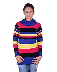 eWools Women's sweater (Miss18-413_Multicolor_X-Large)