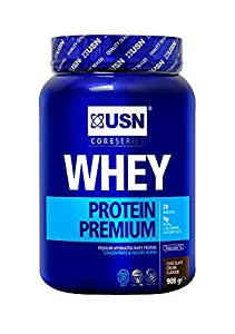 USN Whey Protein Premium Muscle Development and Recovery Shake Powder, Chocolate - 908 g