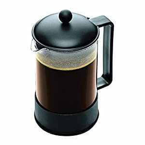Amazon.com: Bodum Brazil 1-1/2-Liter French Press Coffee Maker, 12-Cup, Black: Kitchen & Dining