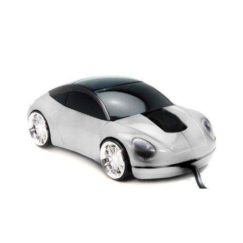 Computermaus LED Maus Auto Style Sportwagen Infrarot USB optische Maus in Silber 800dpi