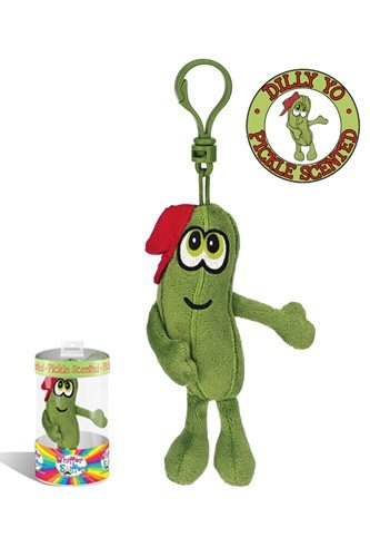 "Whiffer Sniffers Dilly Yo Pickle Collectible 4"" Backpack Clip"