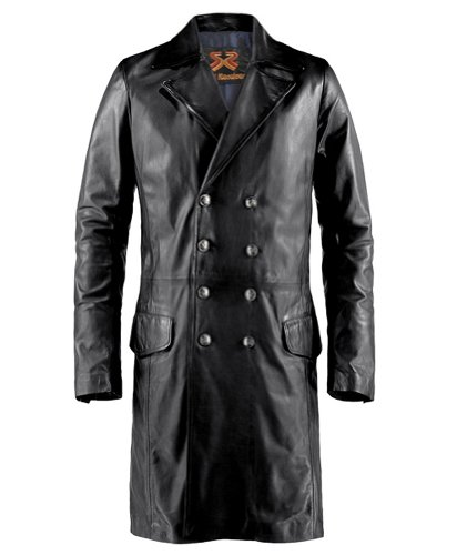 Soul Revolver The Butcher Gothic Leather Coat - Black - S (36-38