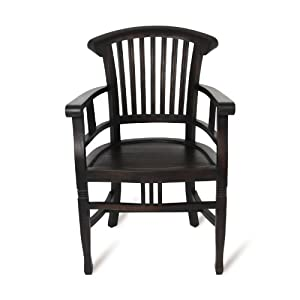 myteak24 armchair colonial antik teakstuhl massiv dunkel. Black Bedroom Furniture Sets. Home Design Ideas