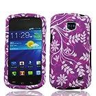 Straight Talk Samsung Galaxy Proclaim Purple Leaf Faceplate Hard Phone Case Cover Cell Phone Accessory 720C SCH-S720C