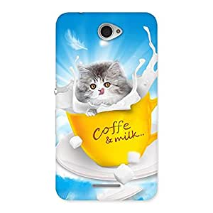 Ajay Enterprises kitty in cofi cup Back Case Cover for Sony Xperia E4