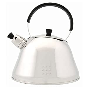 BergHOFF Designer 11-Cups Stainless Steel Whistling Tea Kettle by Berghoff