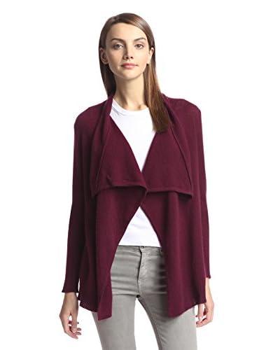 Cashmere Addiction Women's Draped Cardigan Sweater