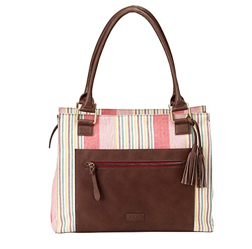 OiOi Sac à Langer Tote à Rayures / Tote Cuir Multicolore