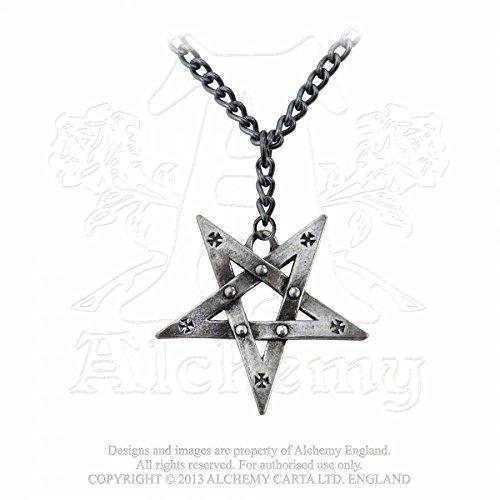 GothicJewels - Collana Alchemy Pentacolo con croci gotiche