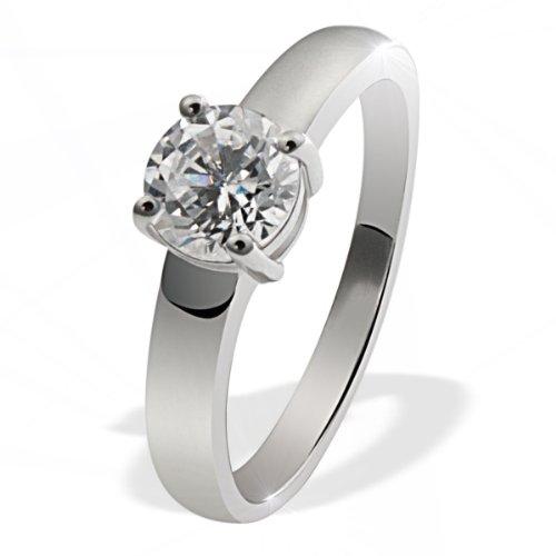Goldmaid Damen-Ring Solitär 925 Sterlingsilber 1 grosser Zirkonia Gr. 58 (18.5) Zi R4780S58