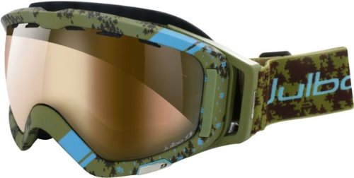 Julbo Orbiter Goggle (Army Green/Blue, Zebra Cat 2-4 Lens)