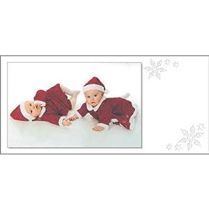 Mara-Mi Laser Cut PhotoCard, 9.5 x 4.5 Inches, White Snowflakes, 100 cards/envelopes (36561)