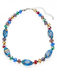 Assorted Multi-Faceted & Twisted Bead Necklace