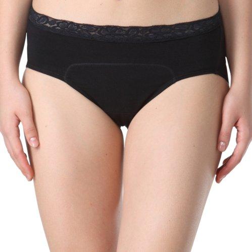 Adira Adira Period Panty Black Lacy Lass Briefs
