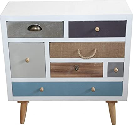 Designer chest of drawers 7 country-style height 70 cm, width 70 cm
