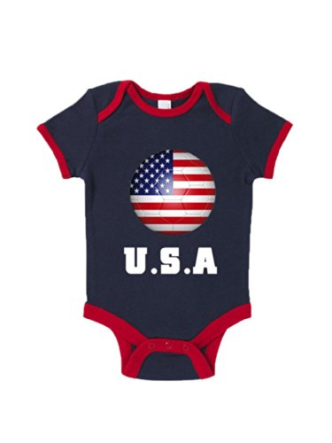Blue Ivory U.S.A Road To World Cup Baby Grow Brazil 2015 front-849017
