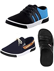 Earton COMBO Pack Of 3 Pair Of Casual Shoes With Loafers Shoes & Sandals