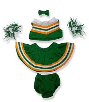 Green And White Cheerleader Uniform Outfit Teddy