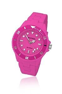 Sekonda Women's Quartz Watch with Pink Dial Analogue Display and Pink Plastic Bracelet 4410.71