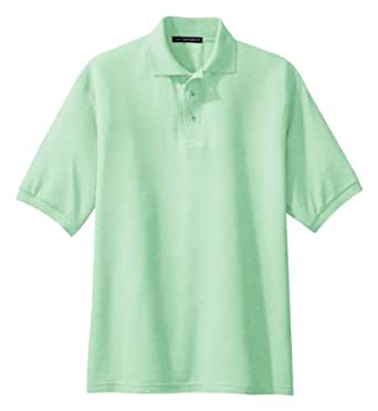 Port authority silk touch sport shirt k500 available in for Mint color polo shirt