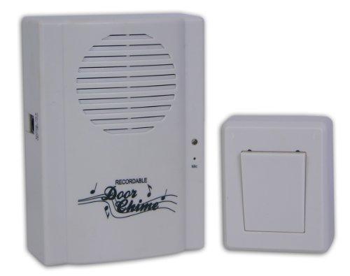 Ideaworks Wireless Recordable Doorbell, Computer Grey