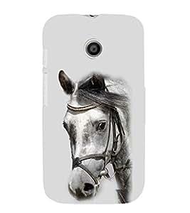 EPICCASE White Beauty Mobile Back Case Cover For Moto E (Designer Case)