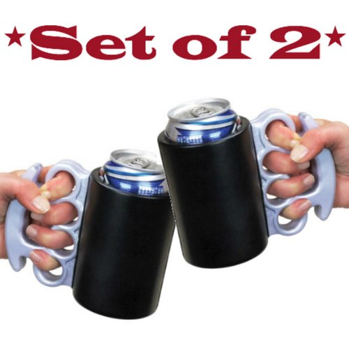 Brass Knuckles Can Kooler *Set of 2* (Brass Knuckle Beer compare prices)