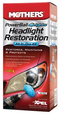 mothers powerball 4lights headlight restoration kit by mothers detail doctor. Black Bedroom Furniture Sets. Home Design Ideas
